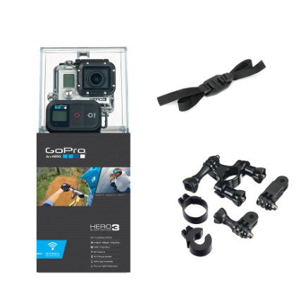 GoPro Hero3 Black With Free Handlebar and Helmet Mount