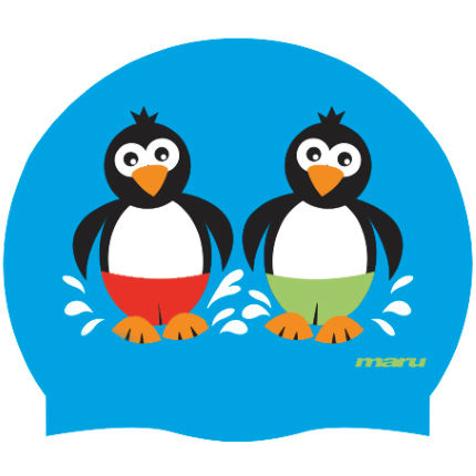 Maru Kids Penguin Silicone Swim Hat