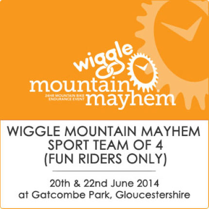 Mountain Mayhem Wiggle Sport Team Of 4 Fun Riders Only  2014