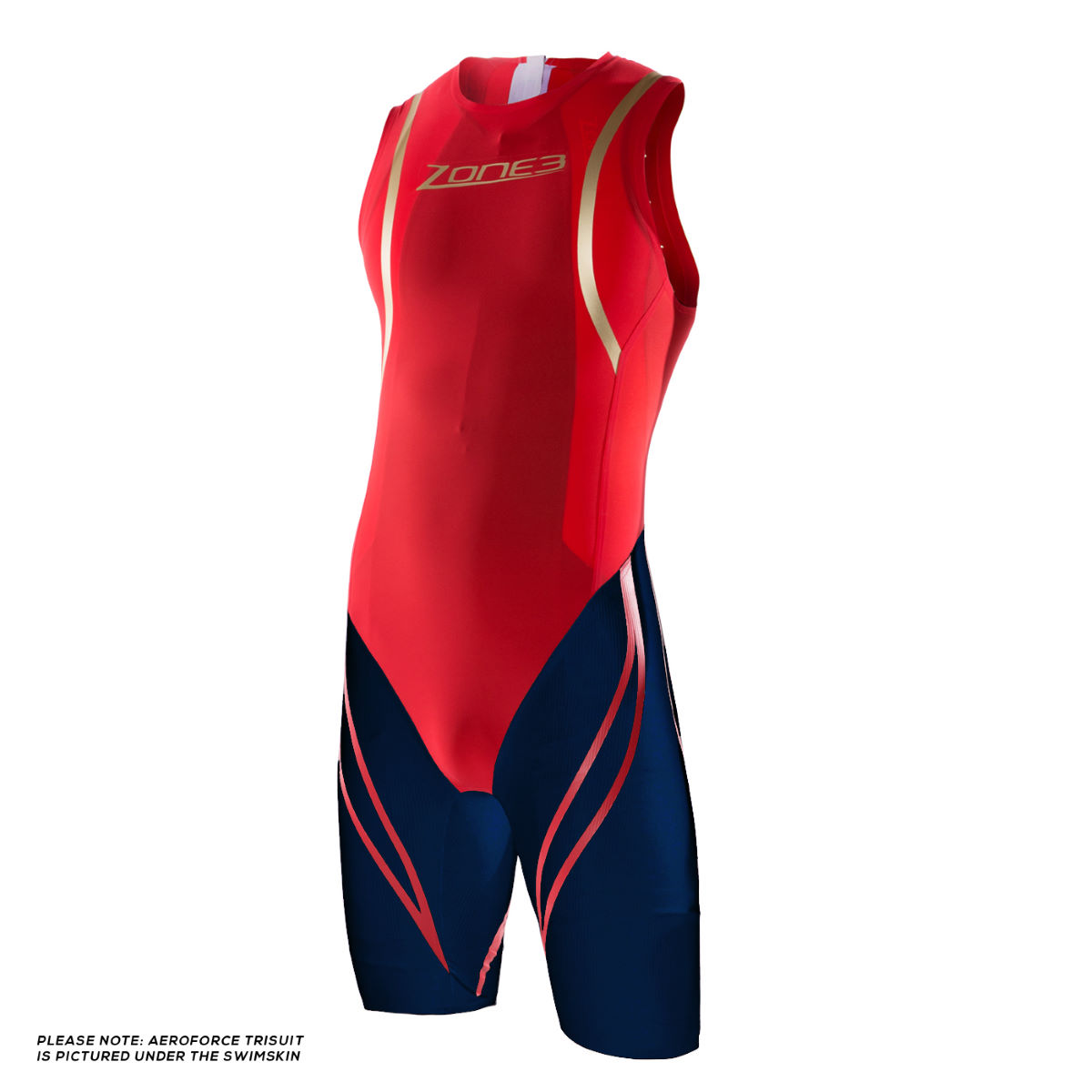 Combinaison de natation Zone3 - XL Red/Blue/Gold Swim Skins