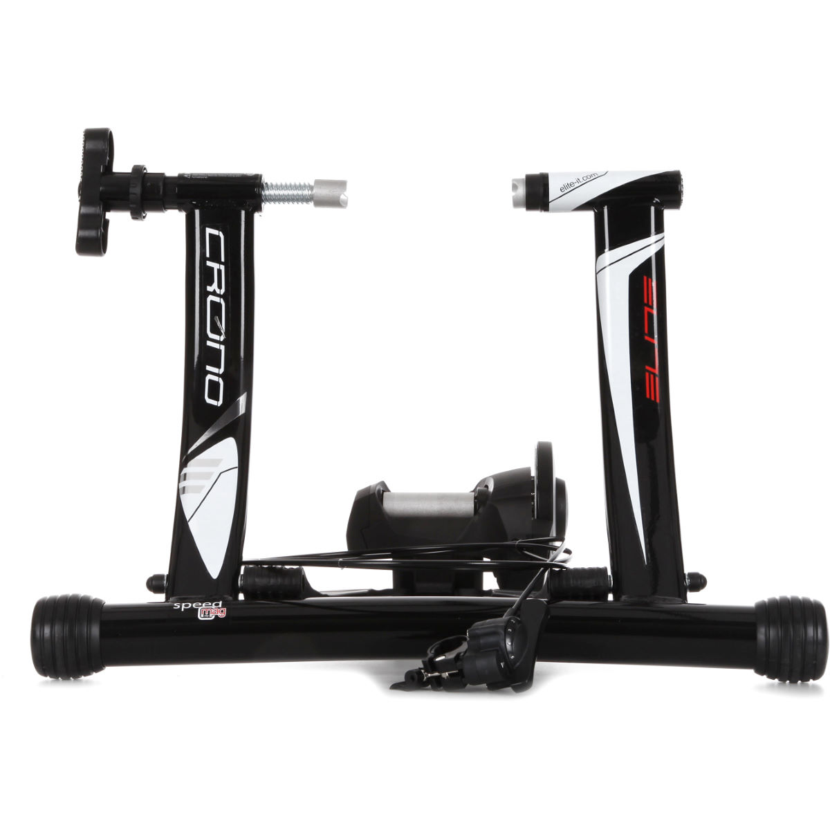 Home Trainer Elite Crono Mag Speed (aluminium) - Taille unique Noir/Blanc Home Trainer et rouleaux