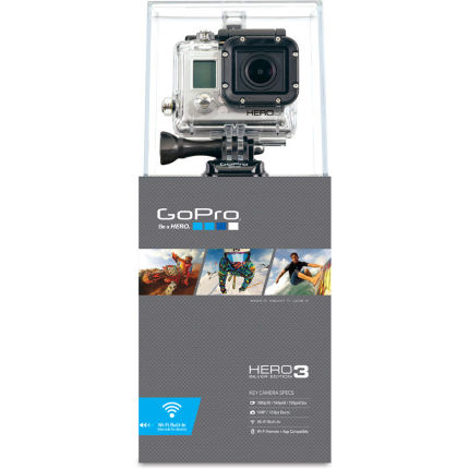 GoPro Hero3 Silver With Free Handlebar and Helmet Mount