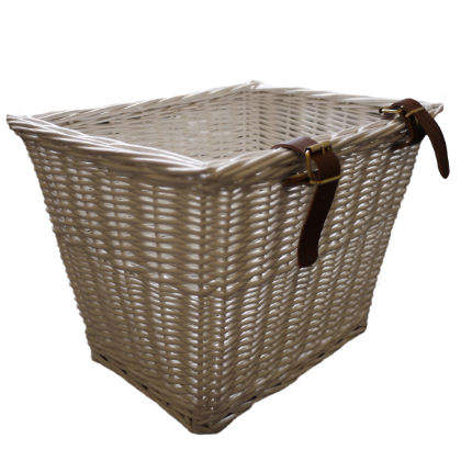 Bobbin Small Rectangular Handlebar Basket - White