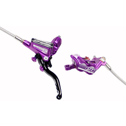 Hope Tech 3 E4 Purple Disc brake with Braided Hose