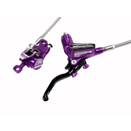 Hope Tech 3 X2 Disc Brake With Braided Hose-Purple