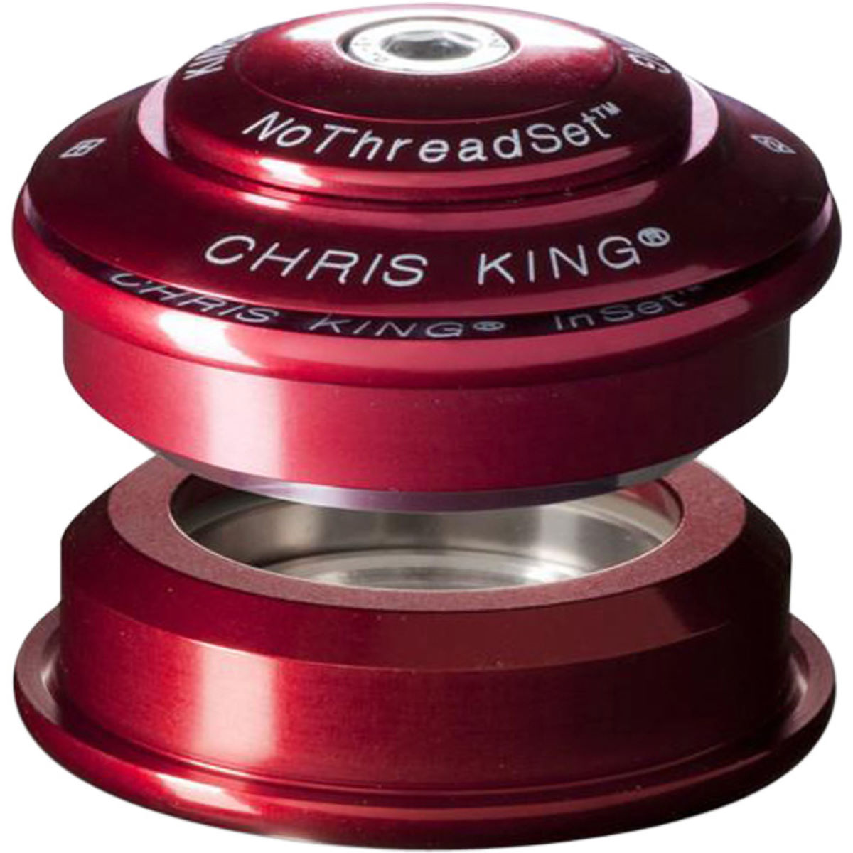 Jeu de direction Chris King 1 1/8 pouce Inset 1 - 1 1/8'' Rouge