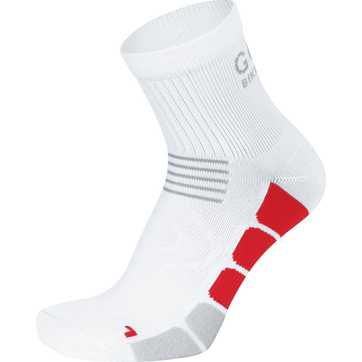 Chaussettes Gore Bike Wear Speed (mi-hautes) - 35-37 Blanc/Rouge