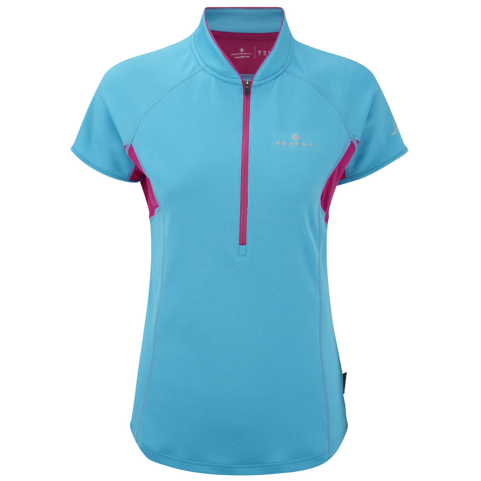 wiggle ronhill women 39 s trail short sleeve zip tee ss14. Black Bedroom Furniture Sets. Home Design Ideas