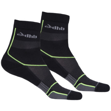 dhb Zelos Ankle Length Run Socks - Pack of 2