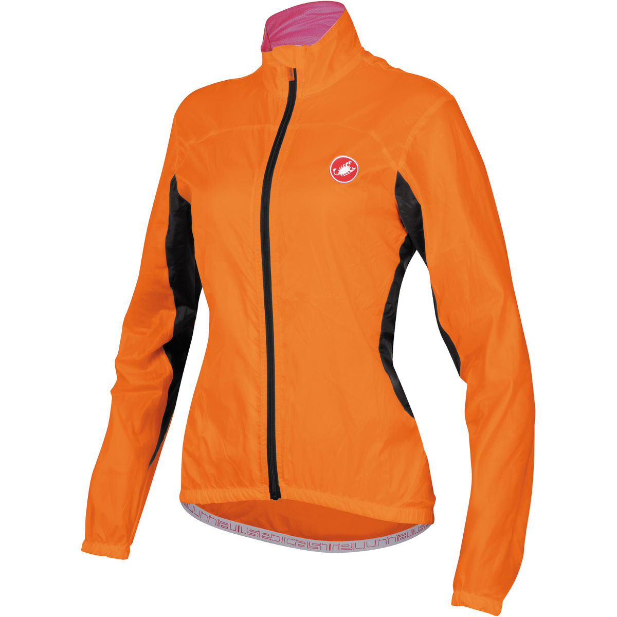 Veste Femme Castelli Velo - XS Orange Coupe-vents vélo