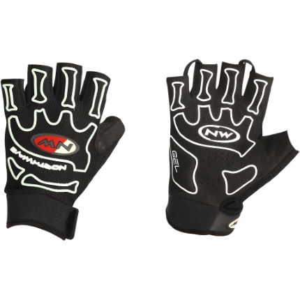 Northwave Skeleton Short Finger Gloves