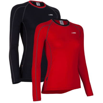dhb Women's Active Long Sleeve Base Layer-Pack of 2