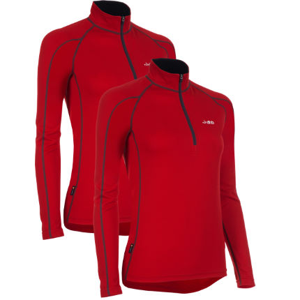 dhb Women's Active L/S Zip Neck Base Layer-Pack of 2