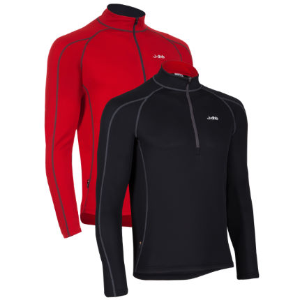dhb Active Long Sleeve Zip Neck Base Layer-Pack of 2