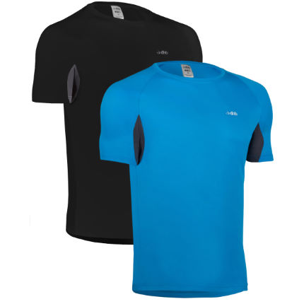 dhb Active Short Sleeve Run Top-Pack of 2