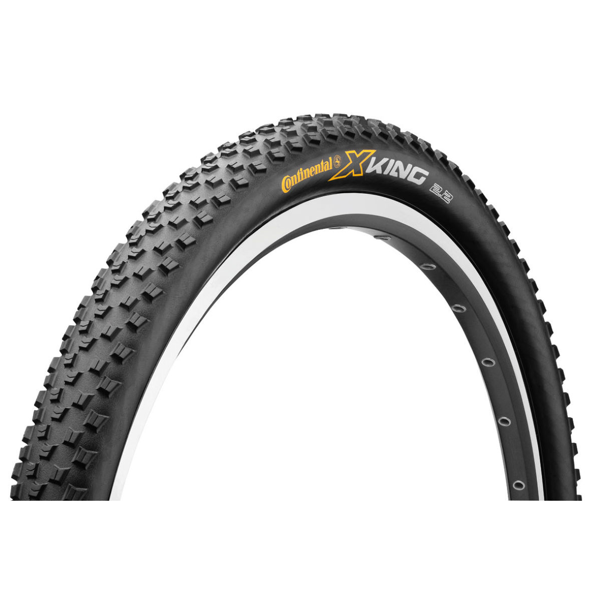 Pneu VTT Continental X-King Pure Grip (souple) - 2.2' 26' Noir/Noir