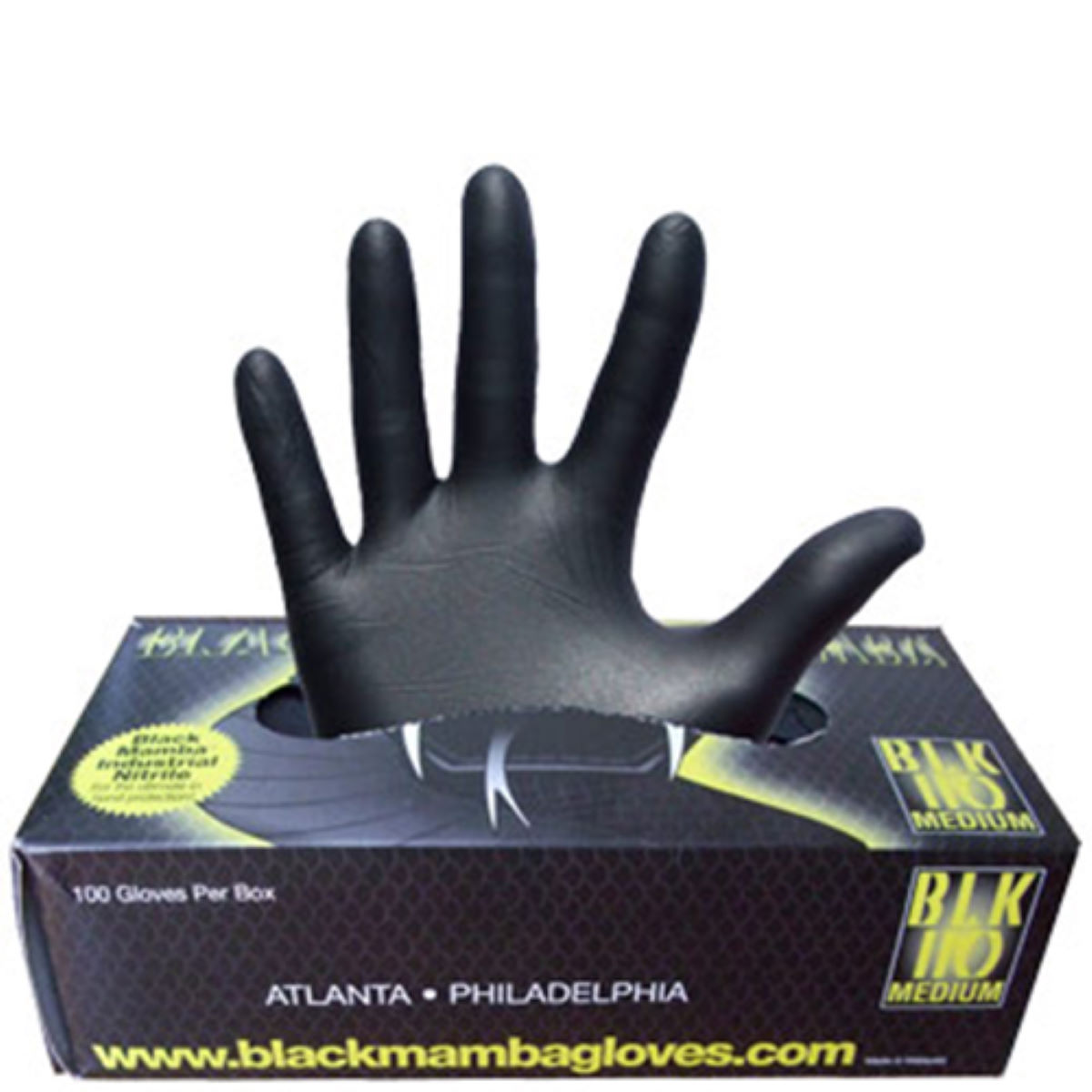 Gants d'atelier Black Mamba Nitrile Workshop (boîte de 100) - Medium Noir Outillage