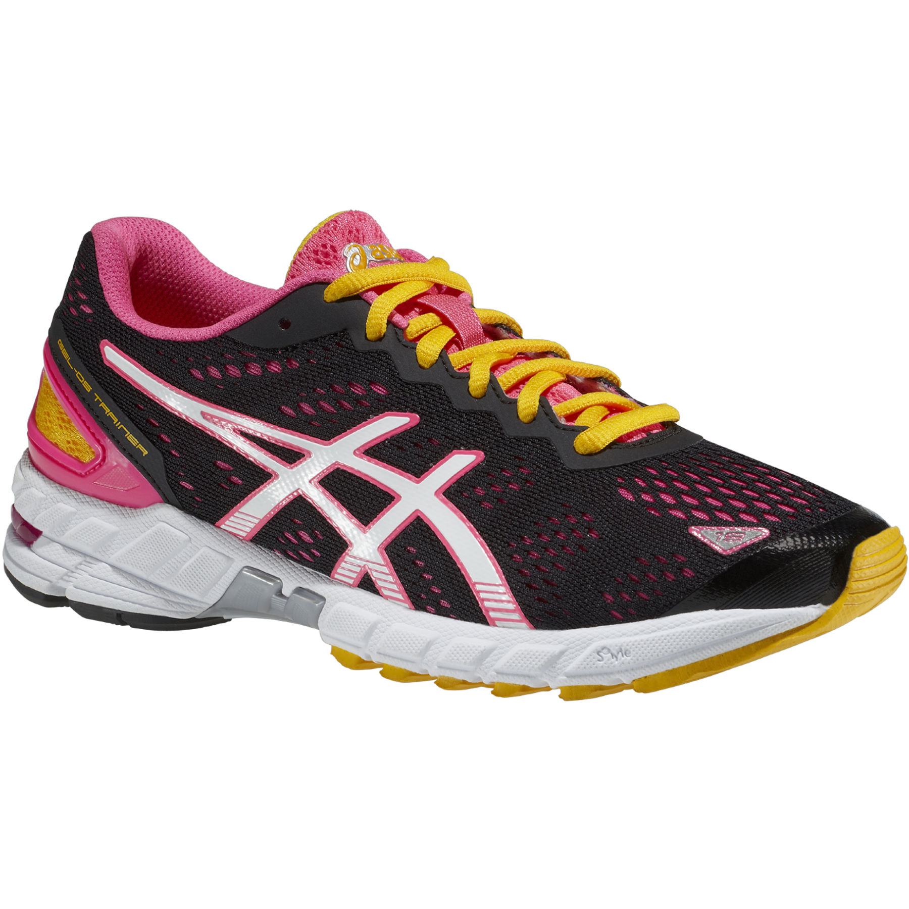 asics white and pink trainers