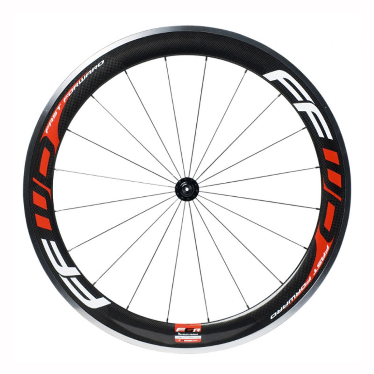 Roue avant Fast Forward F6R (carbone/alliage) - 700c - Clincher Black/Red/White Roues performance