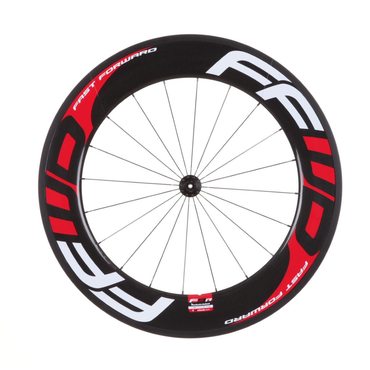 Roue avant à boyau Fast Forward F9R (carbone) - 700c - Tubular Black/Red/White Roues performance