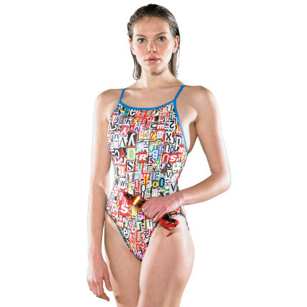 Maru Women's Alphabet Pacer Splish Back Swimsuit AW14