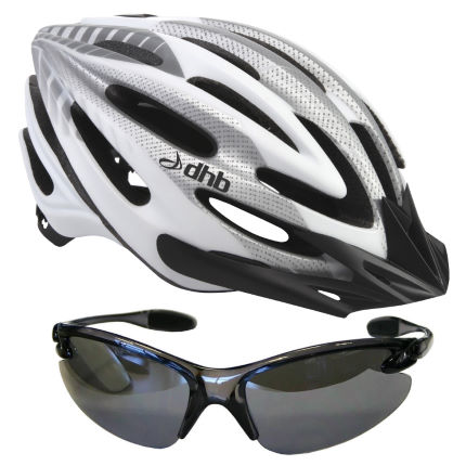 dhb iON Helmet + Triple Lens Sunglasses