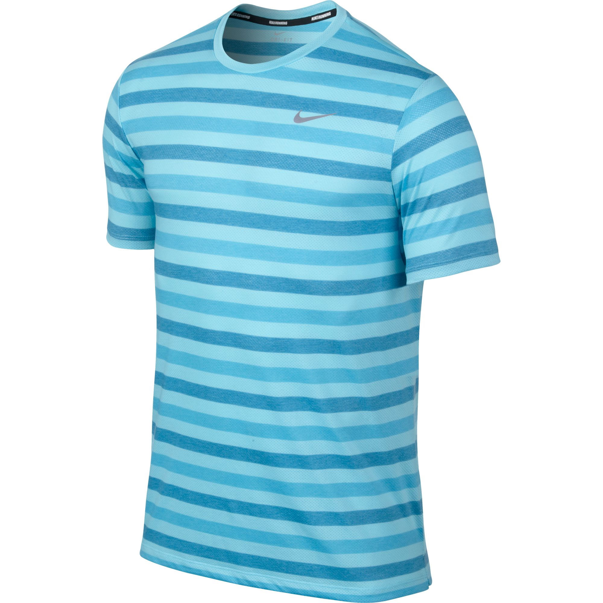 Wiggle nike dri fit touch tailwind short sleeve stripe for Nike short sleeve shirt
