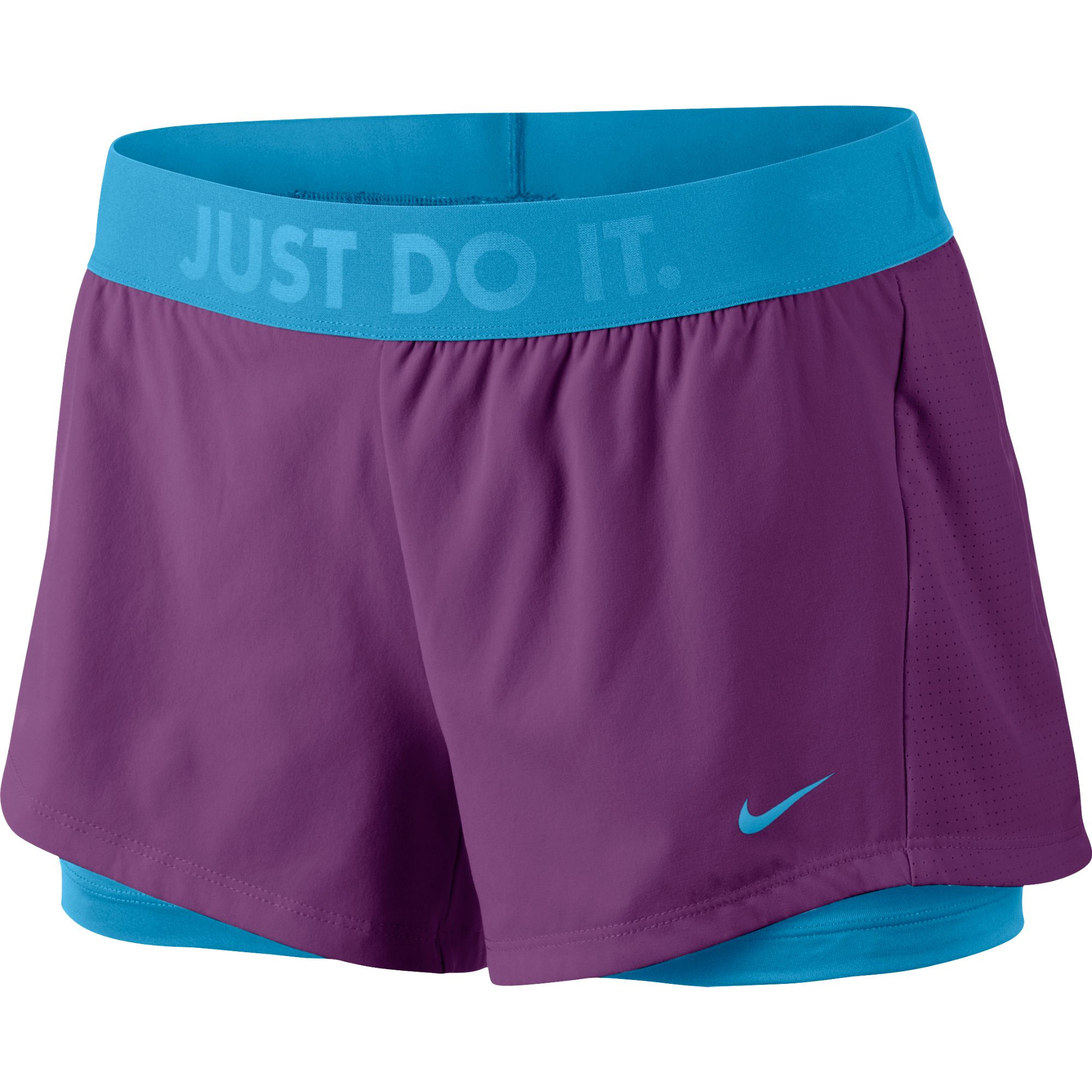 Nike womens running shorts with liner - Nike Women S Circuit 2 In 1 Woven Short Su14