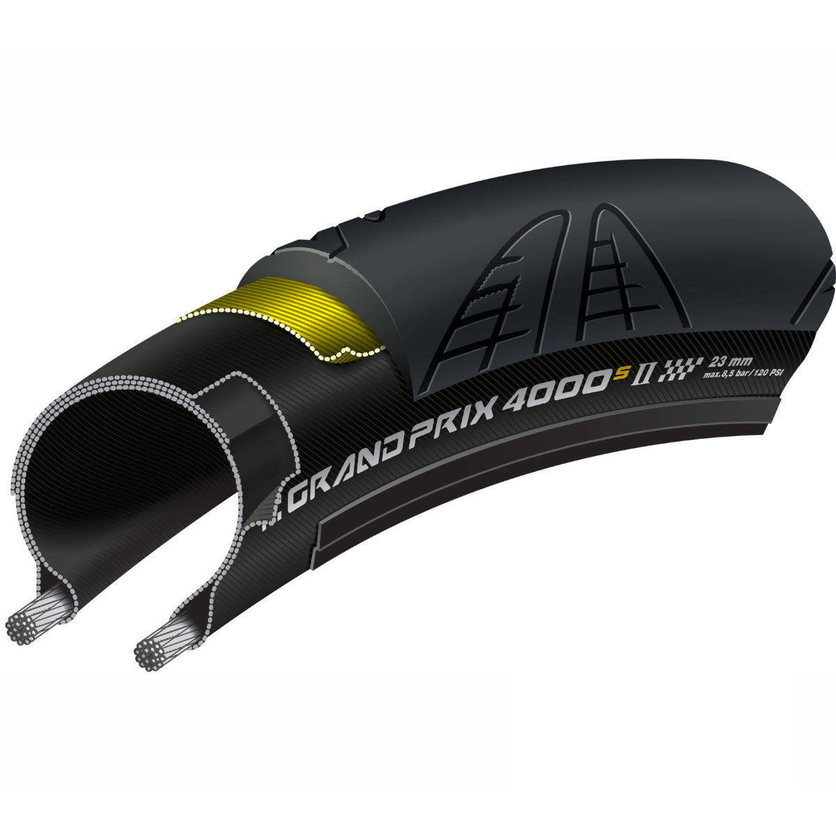 Continental Grand Prix 4000S II Folding Road Tyre Twin Pack