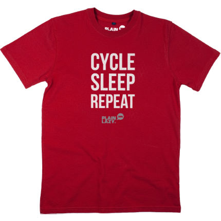 Plain Lazy Cycle Sleep Repeat T-Shirt
