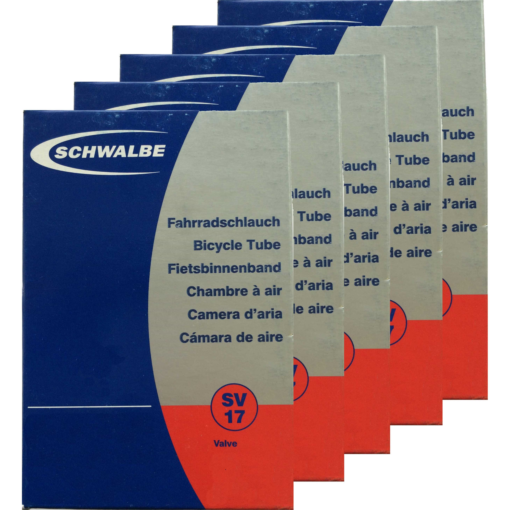 Chambres air vtt schwalbe mtb inner tube pack of 5 wiggle france - Vtt tubeless ou chambre a air ...