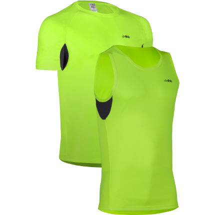dhb Active Hi Viz S/S Run Top and Singlet Bundle