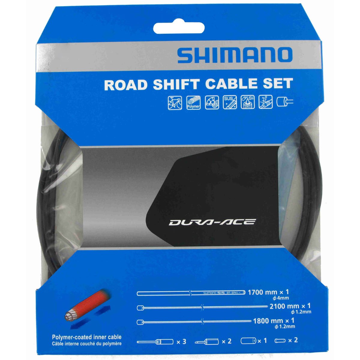 Shimano Road Gear Cable Set with Polymer Coated Inners