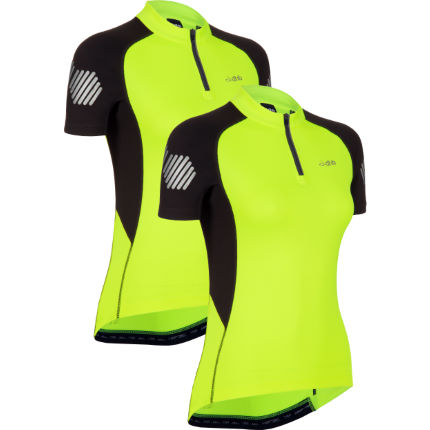 dhb Women's Flashlight Short Sleeve Jersey -Pack of 2