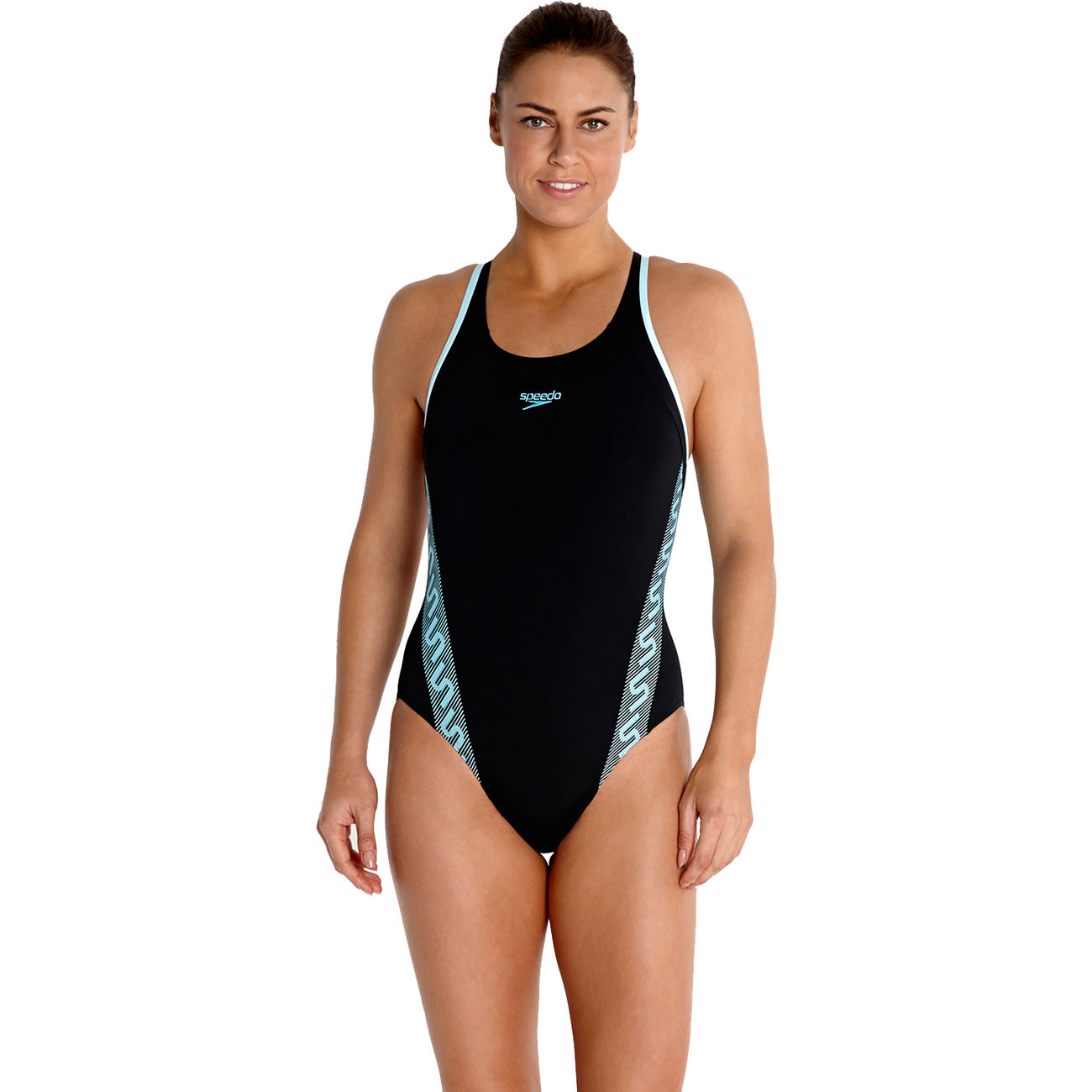maillots de bain femme speedo women 39 s monogram muscleback swimsuit aw14 wiggle france. Black Bedroom Furniture Sets. Home Design Ideas