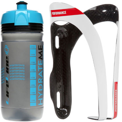 LifeLine Performance Carbon Bottle Cage+550ml Corsa Bottle