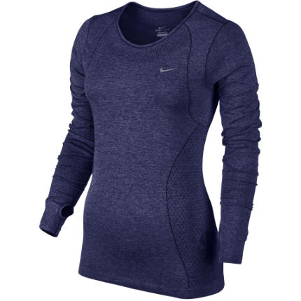 Wiggle nike women 39 s dri fit knit ls fa14 long sleeve for Women s running shirts