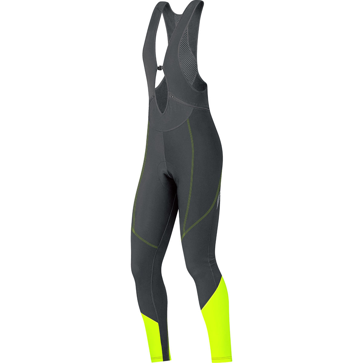 Cuissard long à bretelles Femme Gore Bike Wear Element - S Black/Neon Yellow Cuissards longs de vélo