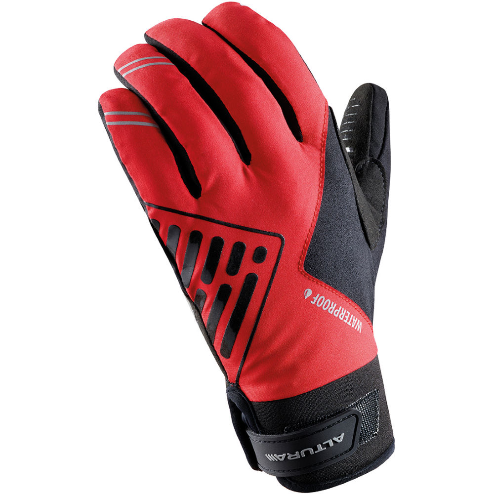 Red leather driving gloves womens - Altura Progel Waterproof Gloves