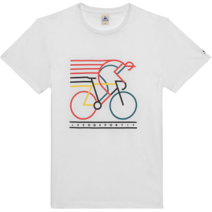 Le Coq Sportif Graphic No5 Bicycle Short Sleeve T-Shirt