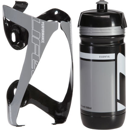 LifeLine Performance 3K Carbon Bottle Cage + Corsa Bottle