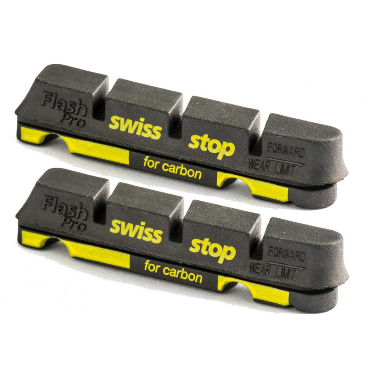 Patins de frein Swissstop Flash Pro Black Prince (sur jante en carbone) - One Size Noir Patins V-brake