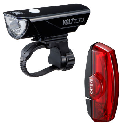 Cateye VOLT 100/Rapid X RC Light Set