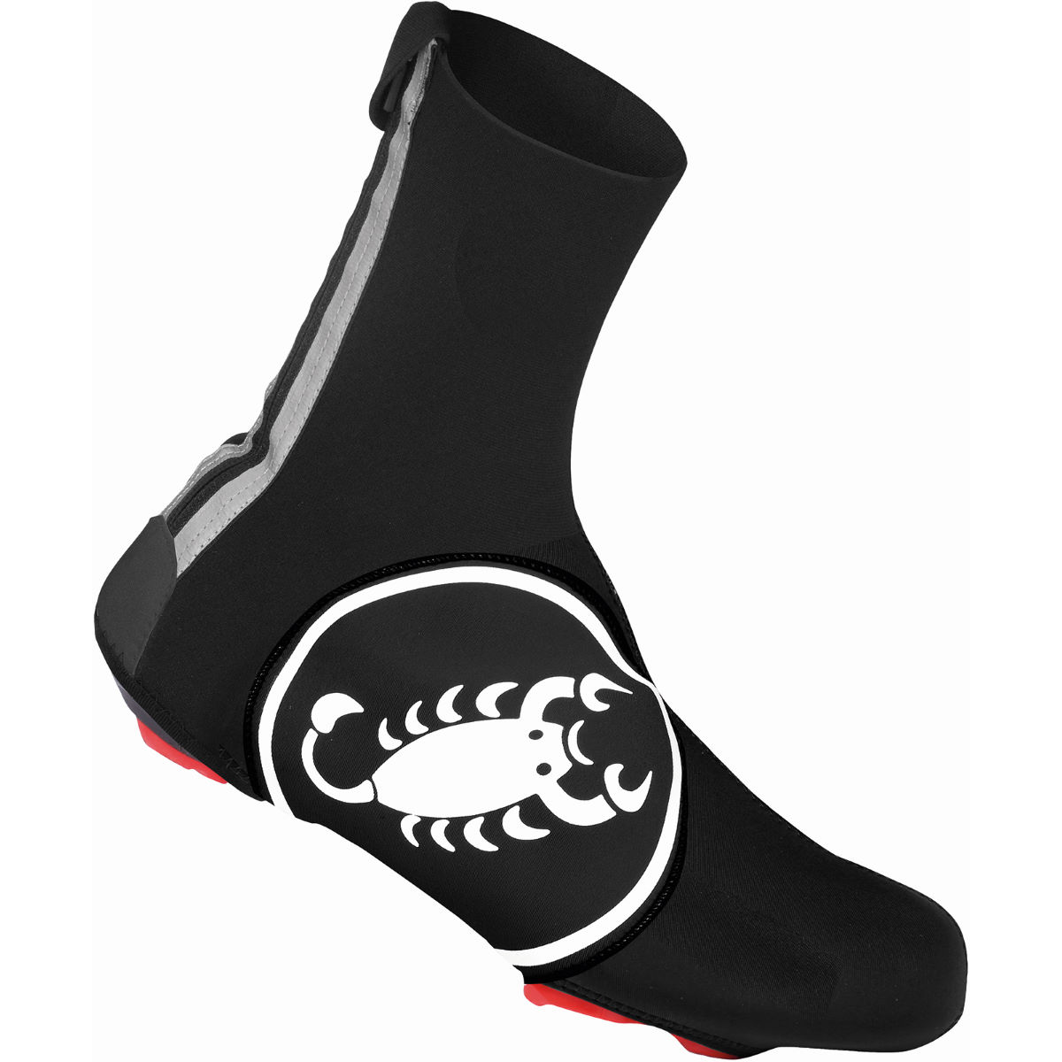 Couvre-chaussures Castelli Diluvio 16 - S/M Black/White Scorpion