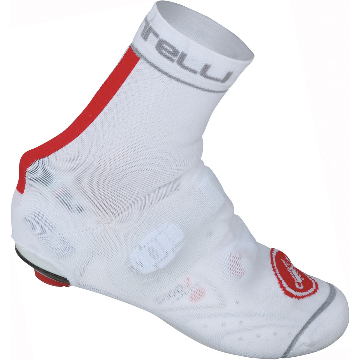 Couvre-chaussures Castelli Belgian 4 - S/M Blanc/Rouge