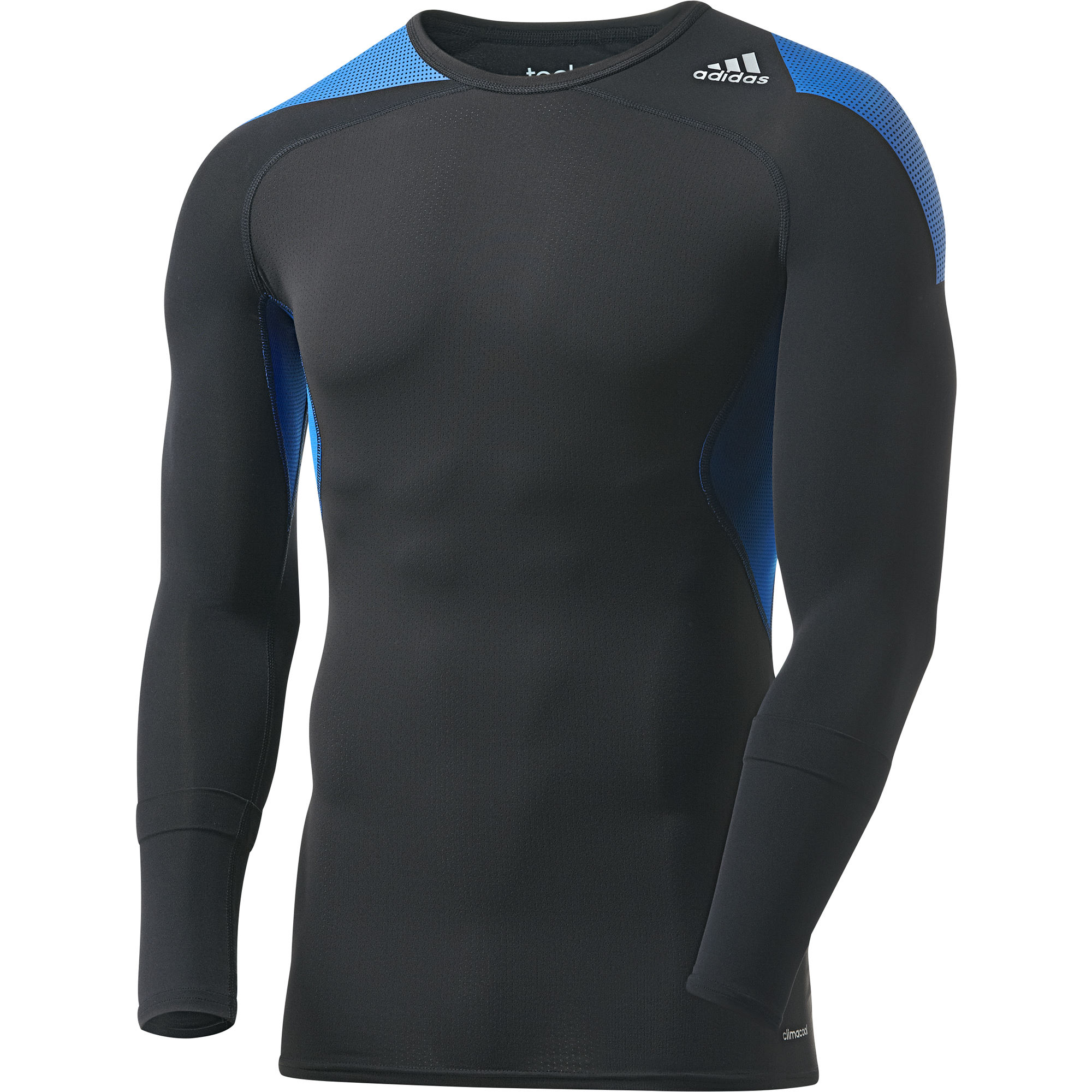 Wiggle adidas techfit cool long sleeves aw14 long for Long sleeve cooling mens shirts