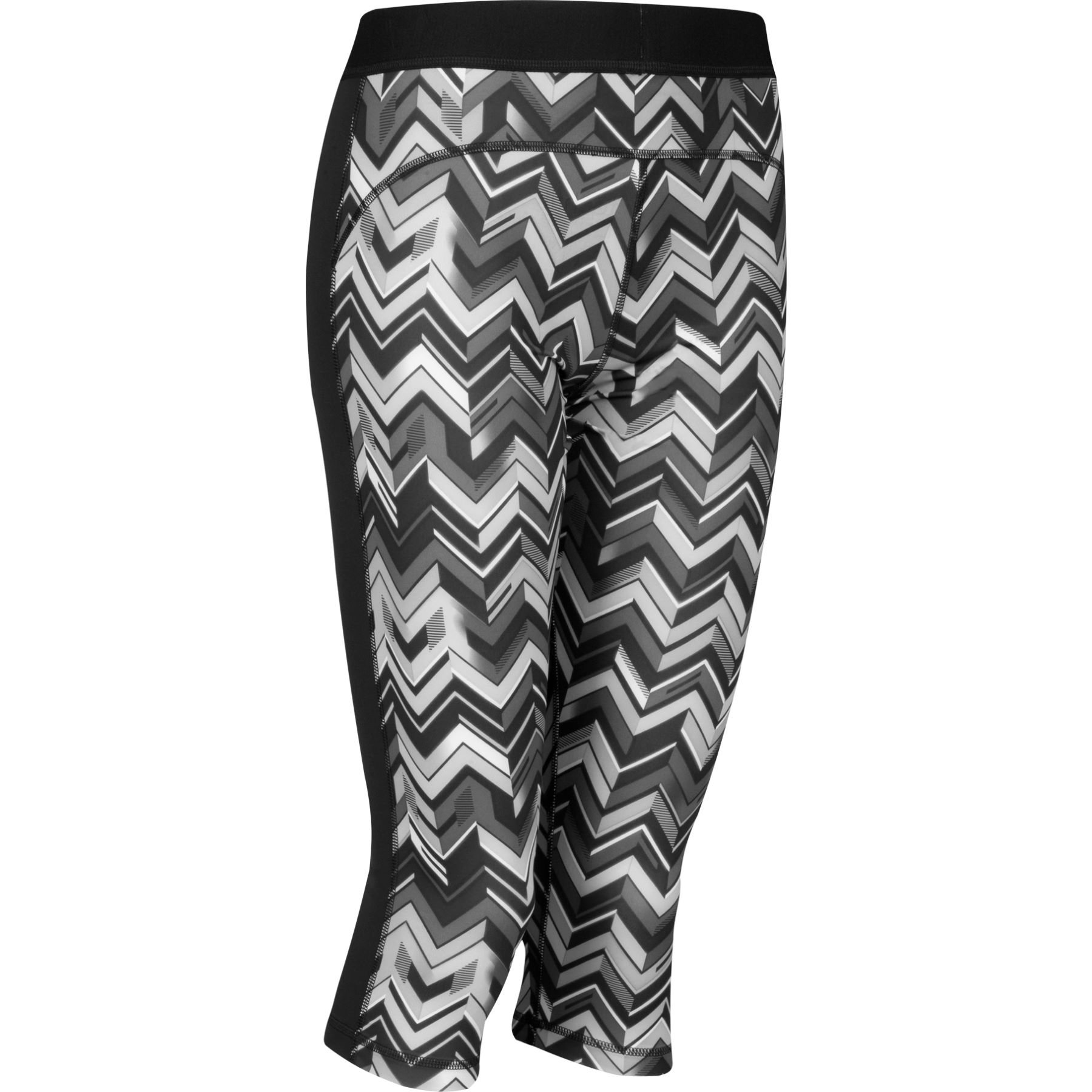 adidas techfit printed capri hose f r frauen h w 14. Black Bedroom Furniture Sets. Home Design Ideas