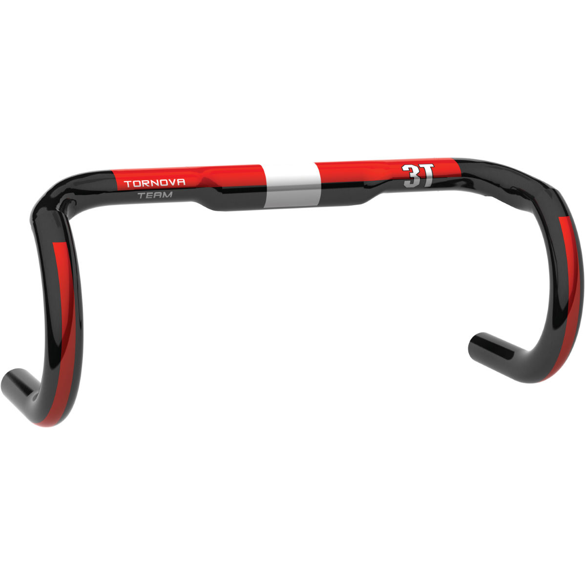 Cintre 3T Tornova Team (carbone) - 44cm Carbon/Red Cintres de route