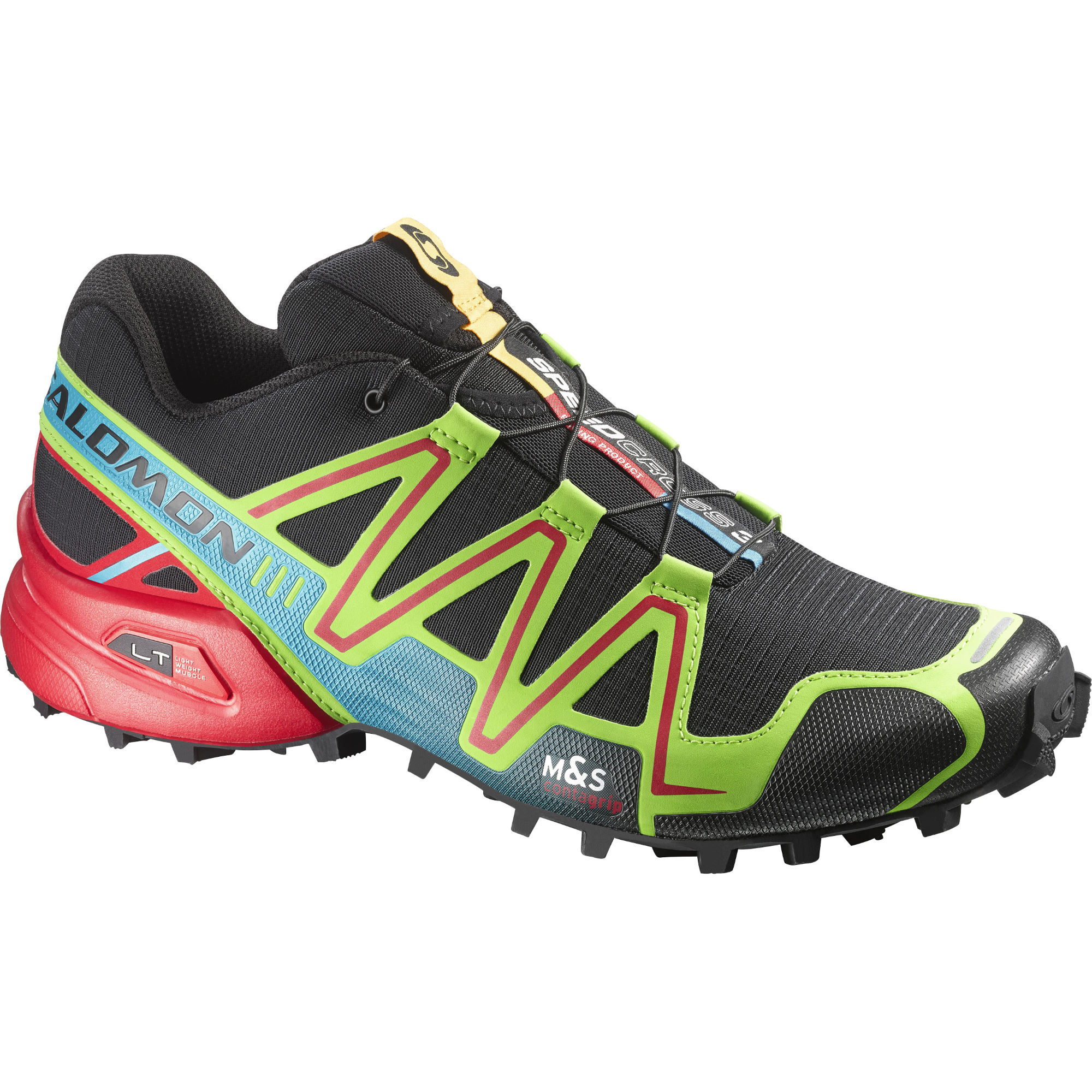 wiggle salomon speedcross 3 black green shoes ss15 offroad running shoes. Black Bedroom Furniture Sets. Home Design Ideas