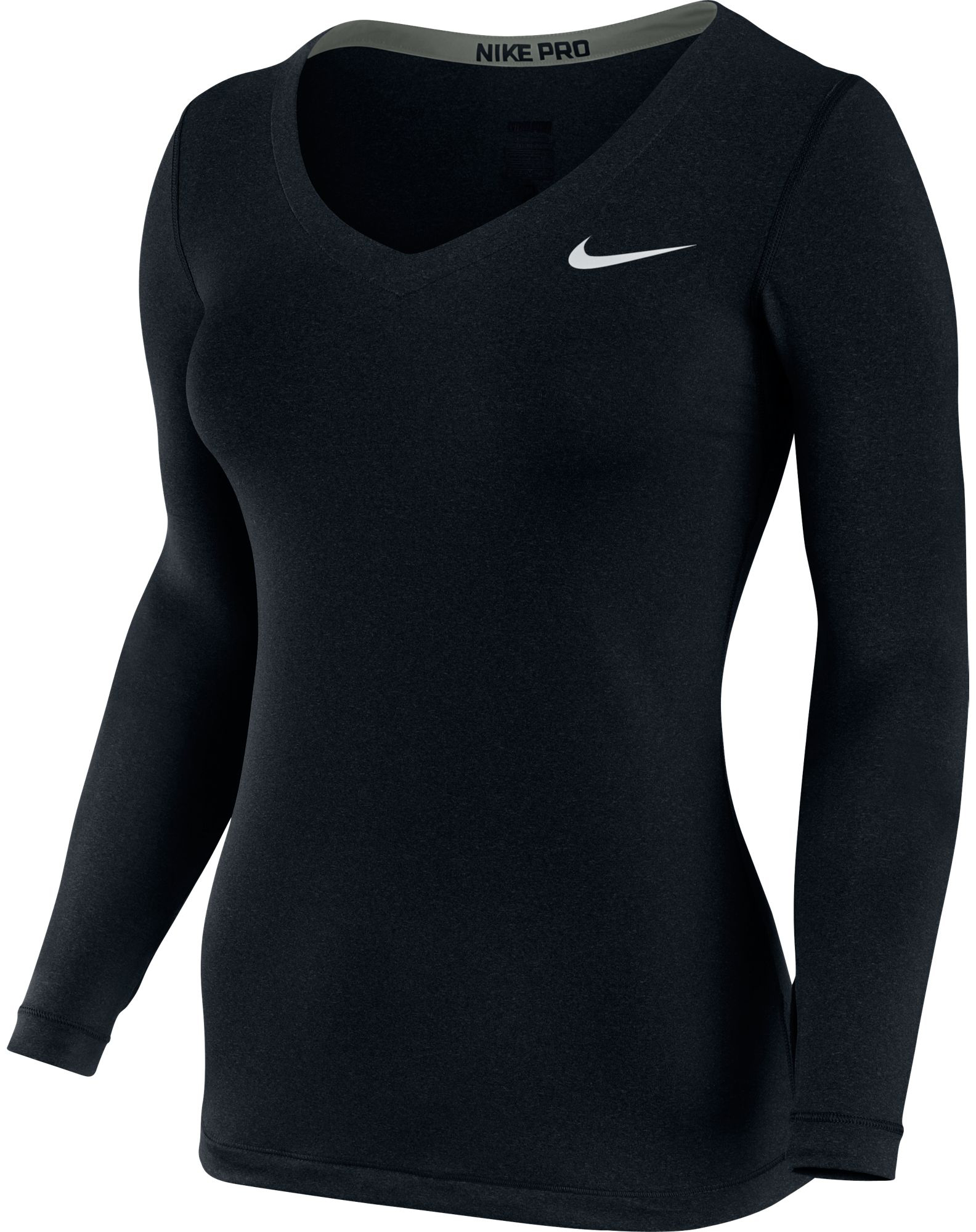 Nike Women's Pro Long Sleeve V Neck - FA14